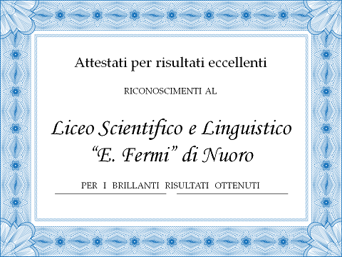 Attestati Liceo Scientifico e Linguistico ridotto